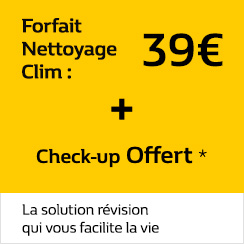 Forfait Clim : 45 € + Check-up Offert